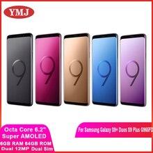 Samsung Galaxy S9 + Duos S9 плюс G965FD Dual Sim оригинальный мобильный телефон Exynos Octa Core 6,2