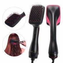 Профессиональная Фен-щетка 2 в 1 электрическая Фен-щетка для волос Горячая воздушная расческа для завивки волос салонная Расческа для укладки волос Прямая поставка