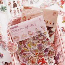 Scrapbooking Stickers Food-Planner Pack Kawaii 100pcs/Pack Stationery Flowers School-Supplies