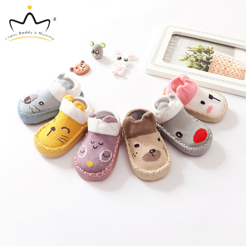 New Soft Cotton Newborn Toddler Shoes Boys Girls First Walkers Cute Cartoon Animal Baby Shoes Non-slip Boy Girl Crib Shoes