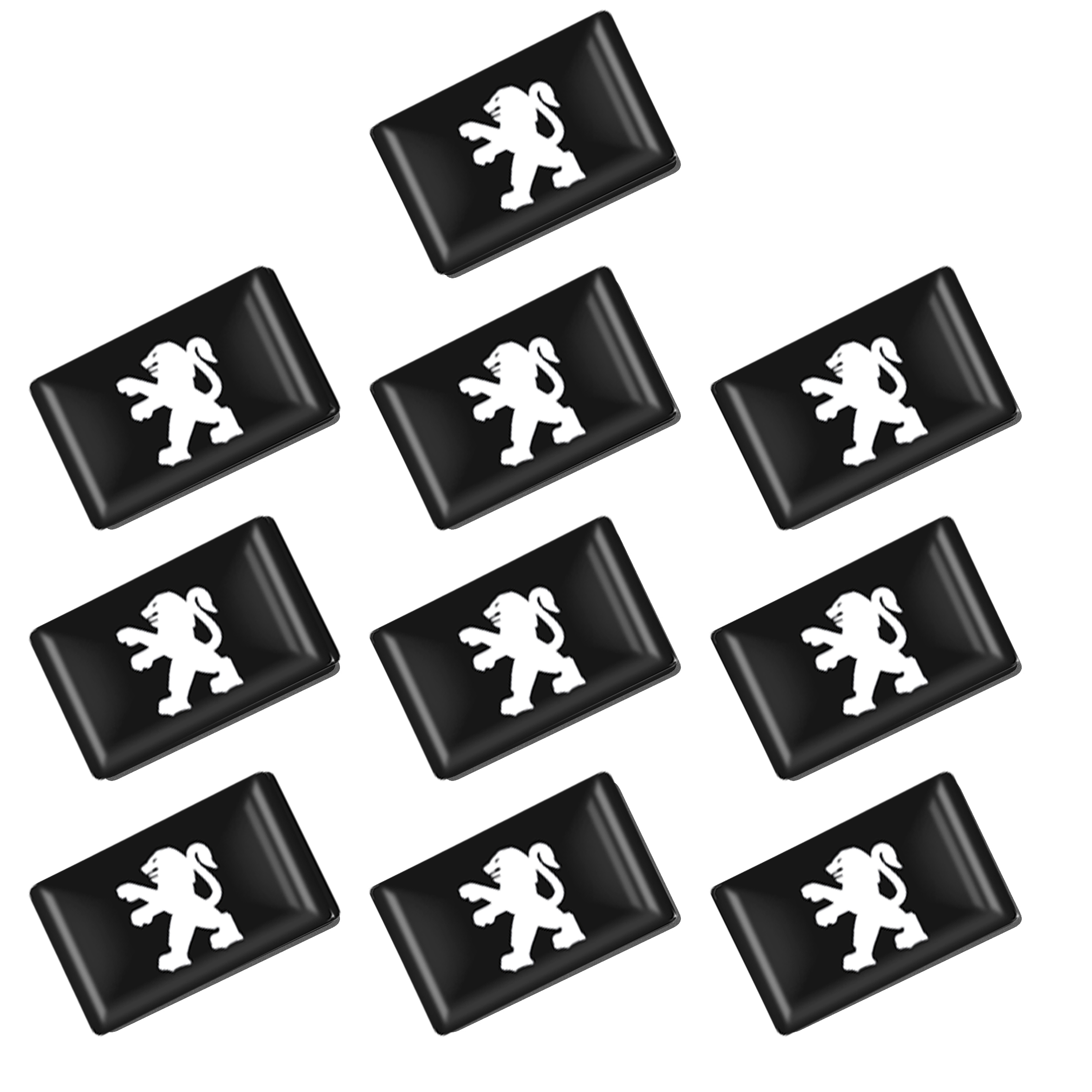 10pcs/set Car Small Interior Decorated 3D Epoxy Sticker Emblems For For Peugeot 206 207 208 306 307 308 407 408 508 Accessories