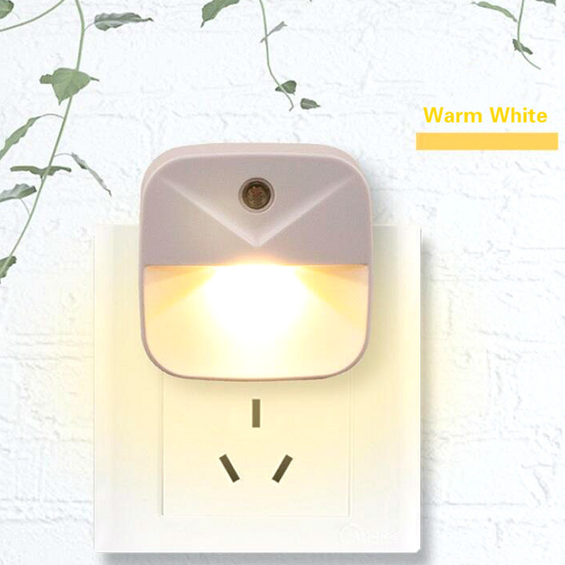 2pcs Smart Night Light Sensor LED Luminaria Lamp Energy Saving Wall Lamp For Child Bedroom EU US Plug Nightlight PIR Night Light