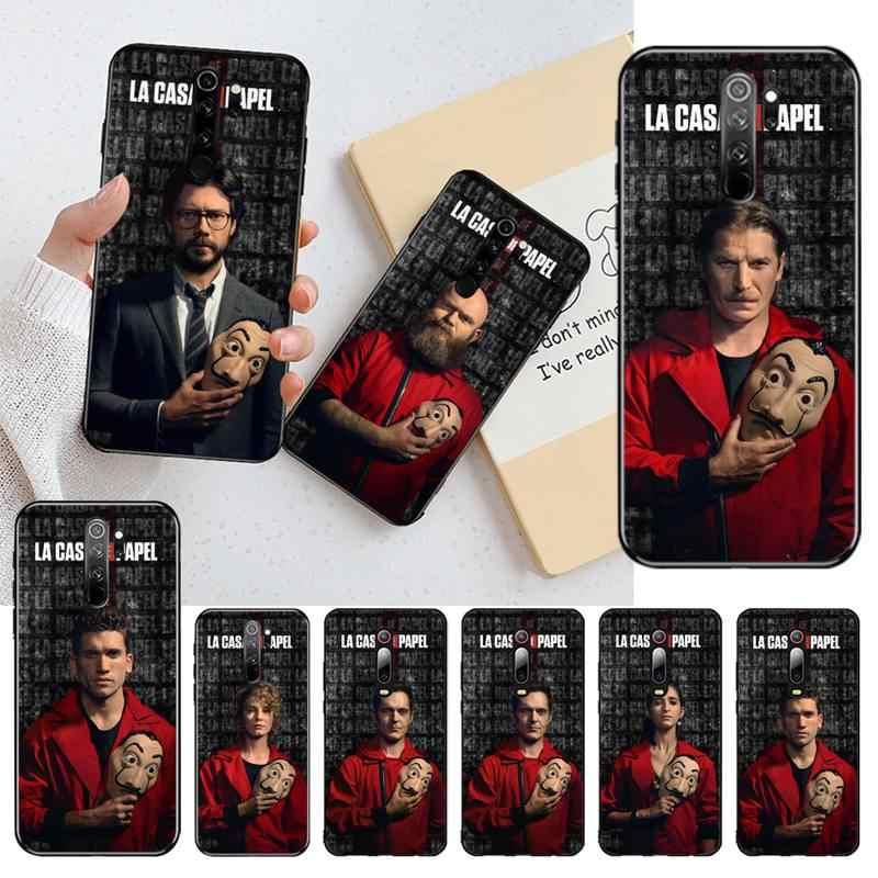 HPCHCJHM כסף שוד בית נייר טלוויזיה TPU רך סיליקון טלפון Case כיסוי עבור Redmi הערה 8 8A 7 6 6A 5 5A 4 4X 4A ללכת פרו בתוספת ראש