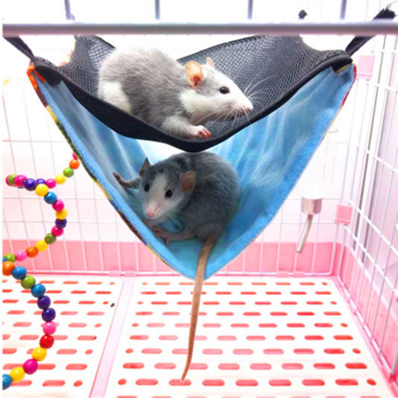 Double Layer font b Pet b font Rat Hamster Hammock For Parrot Rabbit Cage Hanging Warm