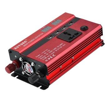 Portable Car LED Power Inverter WATT DC 12V/24V To AC 220V Charger Converter
