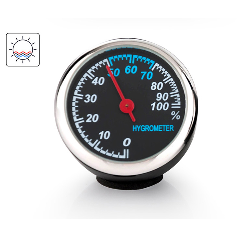 Image 3 - Clock Hygrometer Thermometer Car Accessories Interior Dashboard Car Decorations Ornaments Pendant Quartz Watches-in Ornaments from Automobiles & Motorcycles