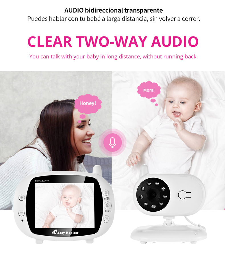 3 inch Baby Monitor With Security Night Vision Camera And a Voice Call For child Security 8