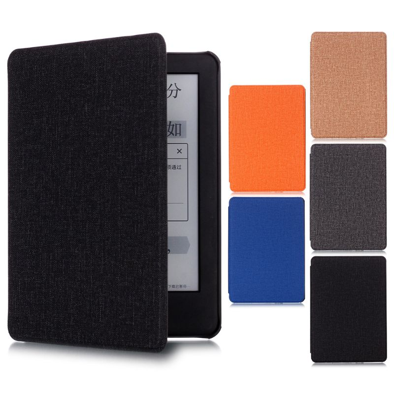 PU PU Leather Cloth Pattern Flip Ebook Case For Amazon Kindle Auto Sleep E-reader Protective Cover For Kindle 2019 6.0 Inch