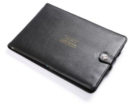 New Cover For Pilot's Log Book Black Protect Case Of Aviator Record Book, Holder PU Leather Simple Fashion Gift