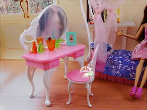 Image 4 - genuine for princess barbie beds Kurhn dolls accessories 1/6 bjd doll bed table bedroom furniture dream house set child toy gift