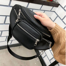 New women Waist Pack Fashion Leather Phone Bags Women Bag Multifunction Small Belt Cool Fanny Packs