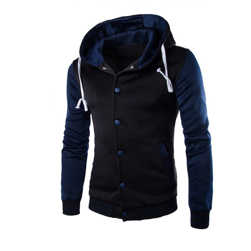 Winter Men/'s Zipper Slim Hoodie Sweatshirt Coat Jacket Hooded Outwear Sweater