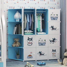 Simple Modern Economical Assembly Of Children #8217 s Cartoon Baby Wardrobe Plastic Household Bedroom Lockers Furniture cheap CN(Origin) MBWMH Jinhua Yiwu Zhejiang Province More than 6 doors Plate DIY free assembly Modern simplicity