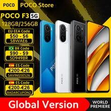 [World premiere em estoque] versão global poco f3 5g snapdragon 870 smartphone 128gb/256gb 6.67