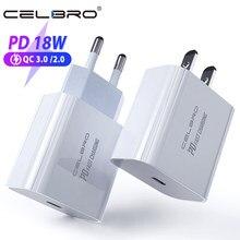 18W PD 3,0 Ladegerät USB Typ C Quick Charge QC 3,0 Für iPhone 11 pro Xs Max Xr 8 schnelle Lade Power Typ-C für Apple Ladegerät