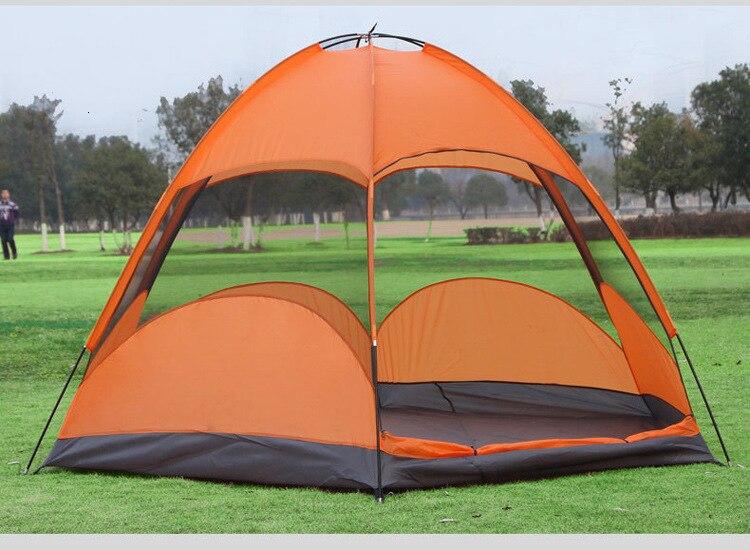 Mongolian Yurt Tent Fishing Mosquito Net Picnic Family Outdoor Camp Summer Beach Camping Tent 5 Person Waterproof (8)