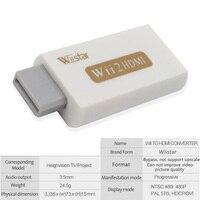 Wiistar Wii zu HDMI Adapter Konverter Unterstützung FullHD 720 P 1080 P 3 5mm Audio Wii2HDMI Adapter für HDTV|Getriebe & Kabel|Sicherheit und Schutz -