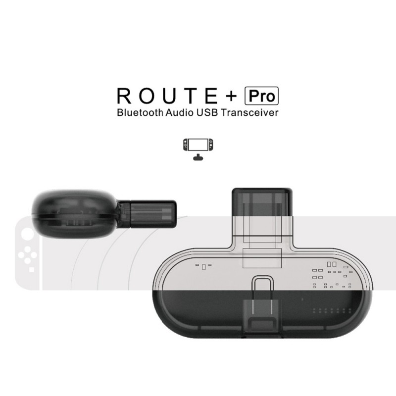 GuliKit Low Latency Plug And Play Route Pro Wireless Bluetooth Audio USB Transceiver For Nintendo NS Switch Gaming Accessories