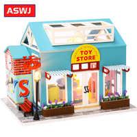Muñeca nueva en miniatura para niños, casa de muñecas en miniatura, juego de ensamblaje, juguetes de madera, tienda, muebles, juguetes para niños, regalos de Navidad y vacaciones