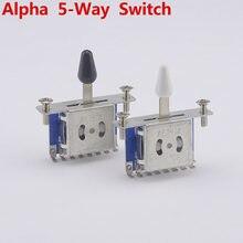 Interrupteur de sélection de guitare électrique Alpha 5 voies, 1 pièce, fabriqué en corée