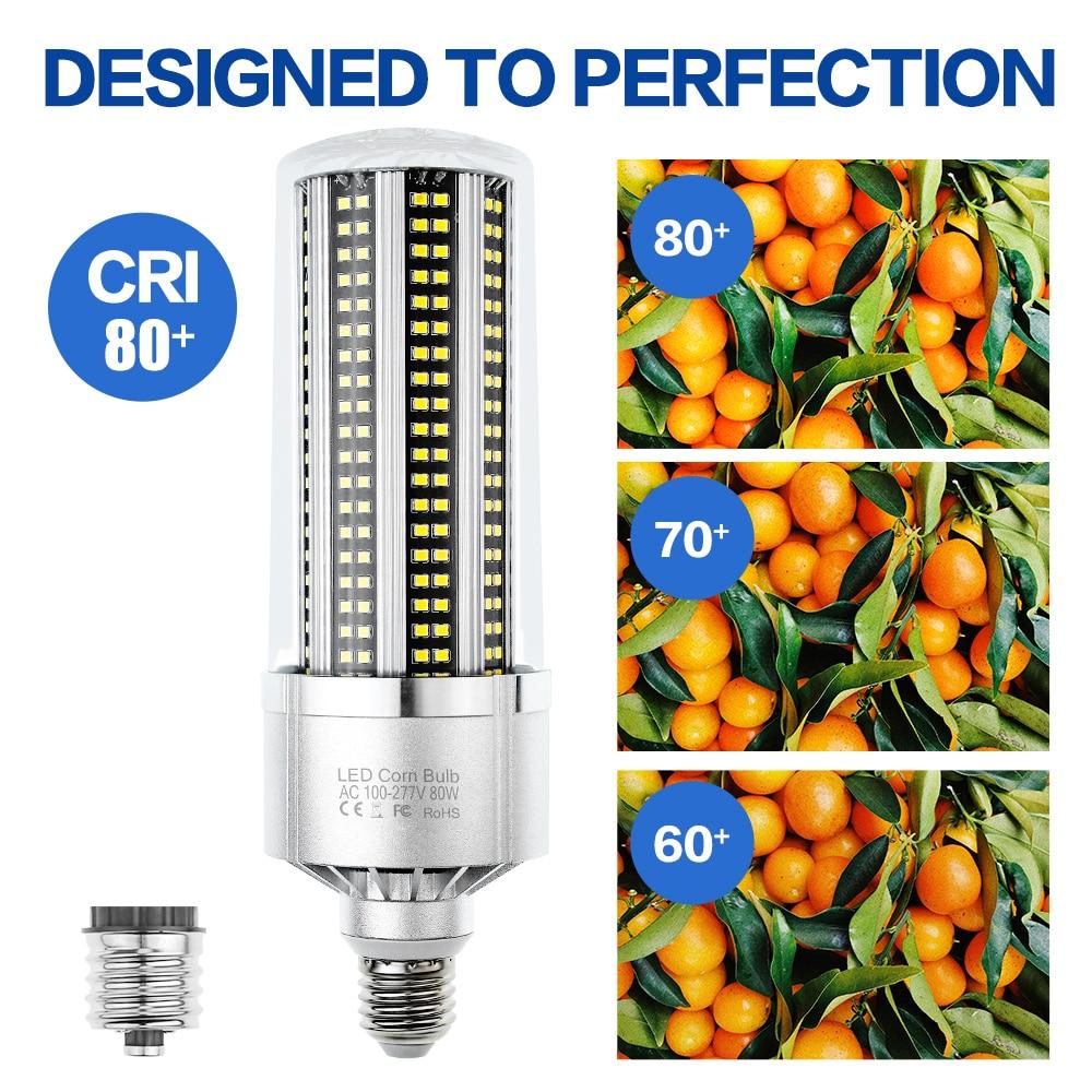 Купить с кэшбэком E27 Led Lamp 25W 35W 50W 80W 100W 120W 150W 200W Corn Lamp 220V LED Bulb E39 High Power For Super Bright Warehouse Lighting 110V