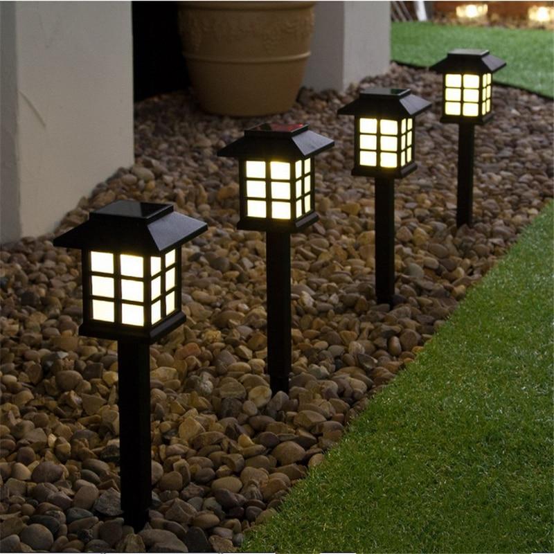 4pcs/lot Outdoor Sensor Solar Light Waterproof LED Solar Garden Light Lawn Lamp Landscape Night Lamp Pathway Patio Driveway Yar