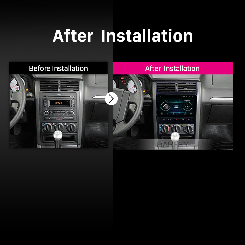 Harfey Auto 9 Navi Android 8.1 Auto Radio Gps Head Unit Voor Peugeot 405 Audio Navi Autostereo Ondersteuning Carplay achteruitrijcamera OBD2 - 6