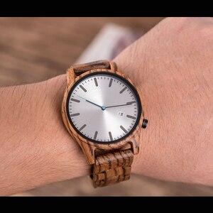 Image 5 - DODO DEER Watch uomo giappone quarzo Zebra orologi in legno maschio semplice reloj hombre calendario data Display Dropshipping OEM B09