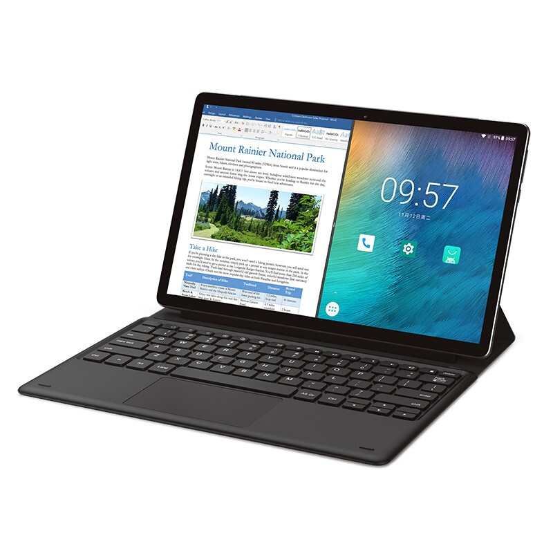 The New 2-in-1 11.6 Inch Touchscreen Cost-effective Android Tablet PC Deca Core Processor 4GB+128GB WiFi Bluetooth Android 8.0