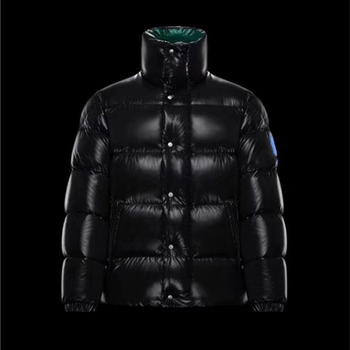 2021 new Men winter stand-up collar down jacket Ladies down Unisex Black outside and green inside Casual warm stylish coat 1