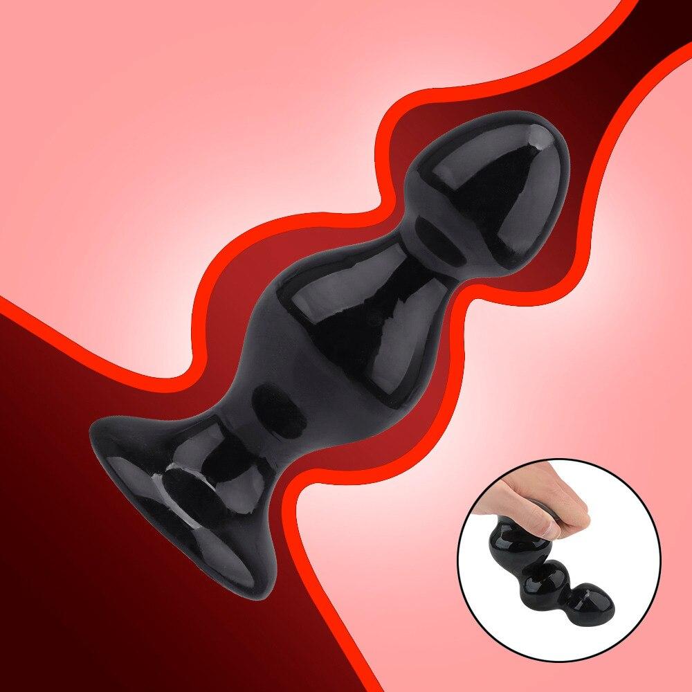YUECHAO Huge Anal Beads Sex Toys Large Butt Plug Dilatador Prostata Massage For Men Woman Gay