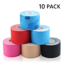 10 PACK Kinesiology Tape 5M Athletic Sports Tapes Rolls Knee Elbow Protector Waterproof Muscle Bandage 2.5/5/7.5/10/15 cm Width