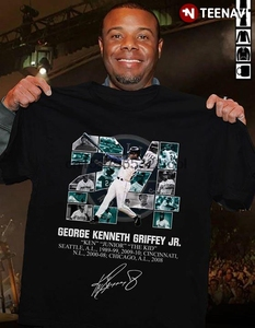 Geroge Kenneth Griffey Jr. Ken Junior The Kidmariners Reds Sox T-Shirt(China)