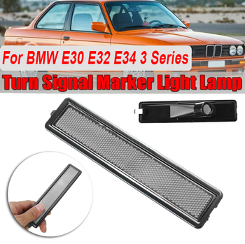 Lamp Turn Signal Lights Side Marker Replacement For BMW E30 E32 E34 3 Series White Car image