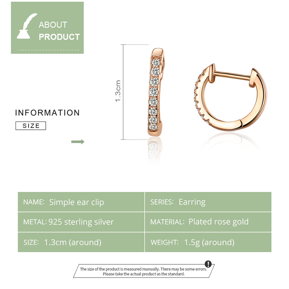 bamoer Authentic HOT SALE 6 Colors Circle Earrings for Women Silver 925 Gold Color Wedding Statement Jewelry Brincos SCE498 5