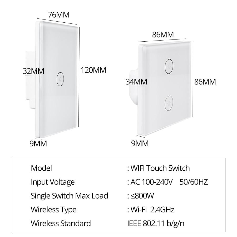Ultimate SaleáSmart-Switch Interruptor-Work Sensor Wifi Wall-Touch Google Home with Alexa IFTTT 1-2-3