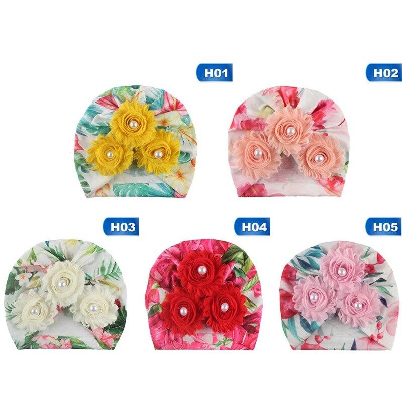 Autumn Winter Soft Cute Newborn Baby Flower Pearl Design Girls