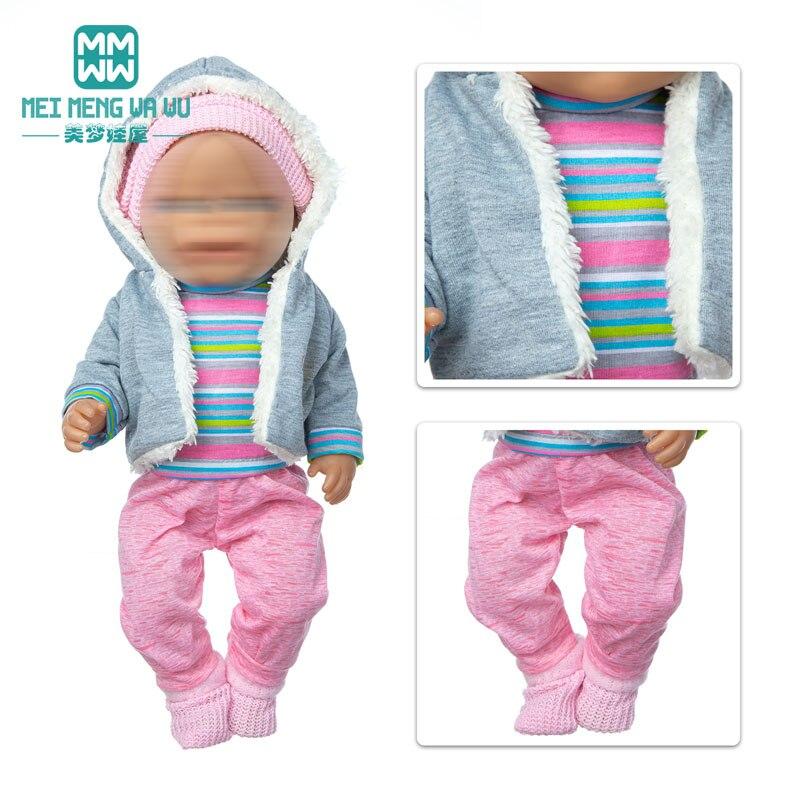 Ubrania dla lalki wełna jagnięca garsonka fit 17 cal 43cm zabawka dla dziecka noworodki akcesoria dla lalek