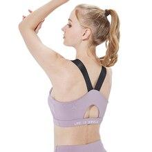 Women Sport Bra Top Padded Yoga Brassiere Fitness Sports Tank Female Push Up Wear for