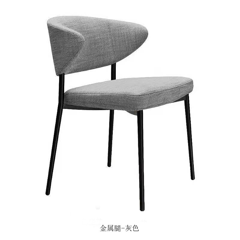 2020 Metal Dining Chair Nordic Modern Light Luxury Fabric Dining Chair Italian Minimalist Western Restaurant Cafe Lounge Chair Dining Chairs Aliexpress
