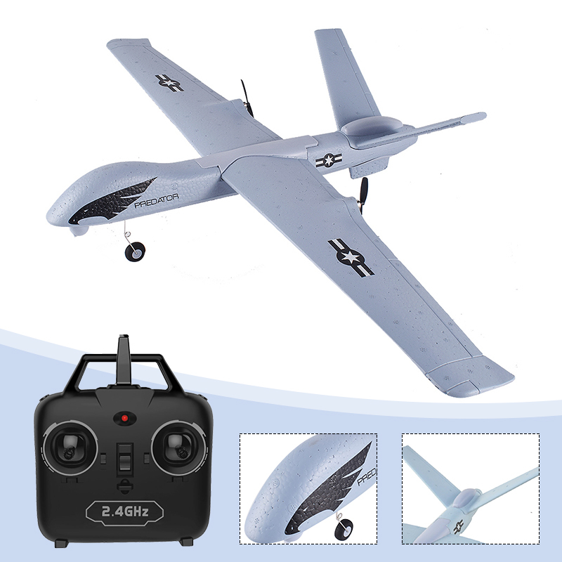 Z51 RC Airplane Predator Remote Control RC Plane 2.4G 2CH 660mm Wingspan EPP DIY Glider RTF Built-in Gyro Flying model Toy image