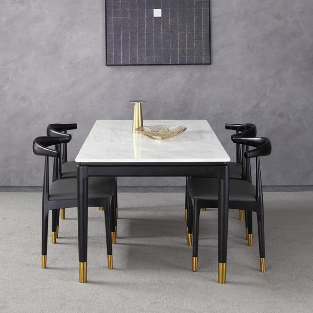 Warp Shape Black Restaurant Chair 4