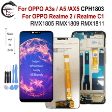 """6.2"""" LCD With Frame For OPPO Realme C1 RMX1811 Realme2 Display For OPPO A3s A5 AX5 LCD Screen Touch Sensor Digitizer Assembly"""