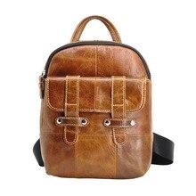 2019 Hot! Women Fashion Backpack Male Travel Mochilas School Elegant Shoulder Bag Real Leather