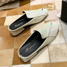mljuese 2018 women flats brown color cow leather square toe flats spring comfortable oxfords women shoes size 34 43 office shoes Women Slipper Candy Color Flats Shoes office & career Casual Shoes Square Toe Mules Footwear Spring SummerJelly Slide Slippers