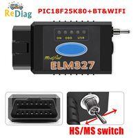 ELM327 USB PIC18F25K80 Chip compatible con Bluetooth y WIFI para Ford HS puede/MS puede cambiar Forscan ELM 327 OBD2 lector de código