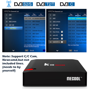 Image 2 - MECOOL KI Pro KII KIII Pro DVB T2 + S2 Androidกล่องทีวี 3G 16G Amlogic S912 DDR4 octa Core 4Kถอดรหัส 2.4G + 5GชุดTop Media Player