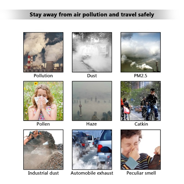 Anti pollution Pm2.5 cotton mouth mask anti dust mask activated carbon filter windproof mouth-muffle flu-proof face masks care 4