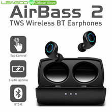 LEAGOO A2 TWS Bluetooth 5.0 Wireless Earphone Tap Control IP4X Waterproof Stereo Auto Pairing Noice Reduction with Charging box