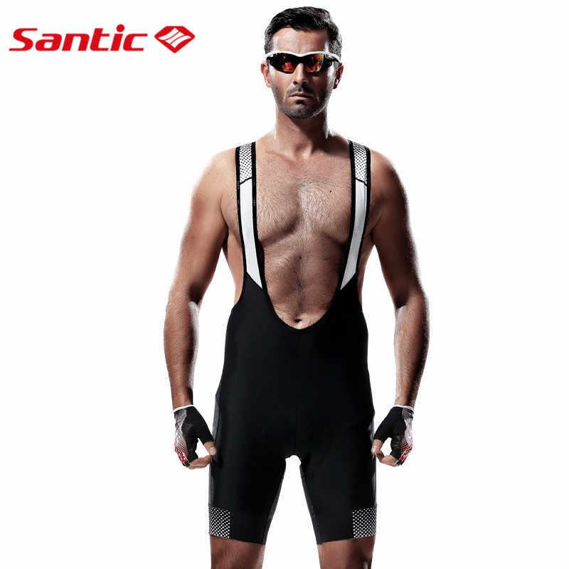 산티아고 여름 사이클링 턱받이 반바지 coolmax 3d 패드 젤 남자 턱받이 반바지 사이클링 mtb 자전거 자전거 턱받이 반바지 3xl c05014